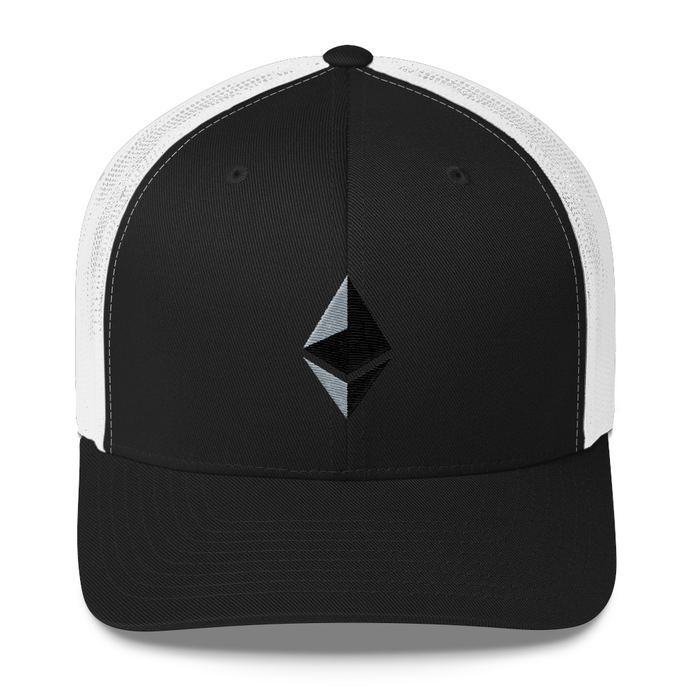 Ethereum Trucker Cap Black/ White  - zeroconfs