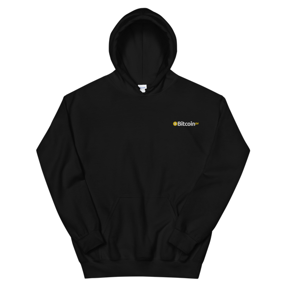 Bitcoin SV Embroidered Women's Hooded Sweatshirt Black S - zeroconfs