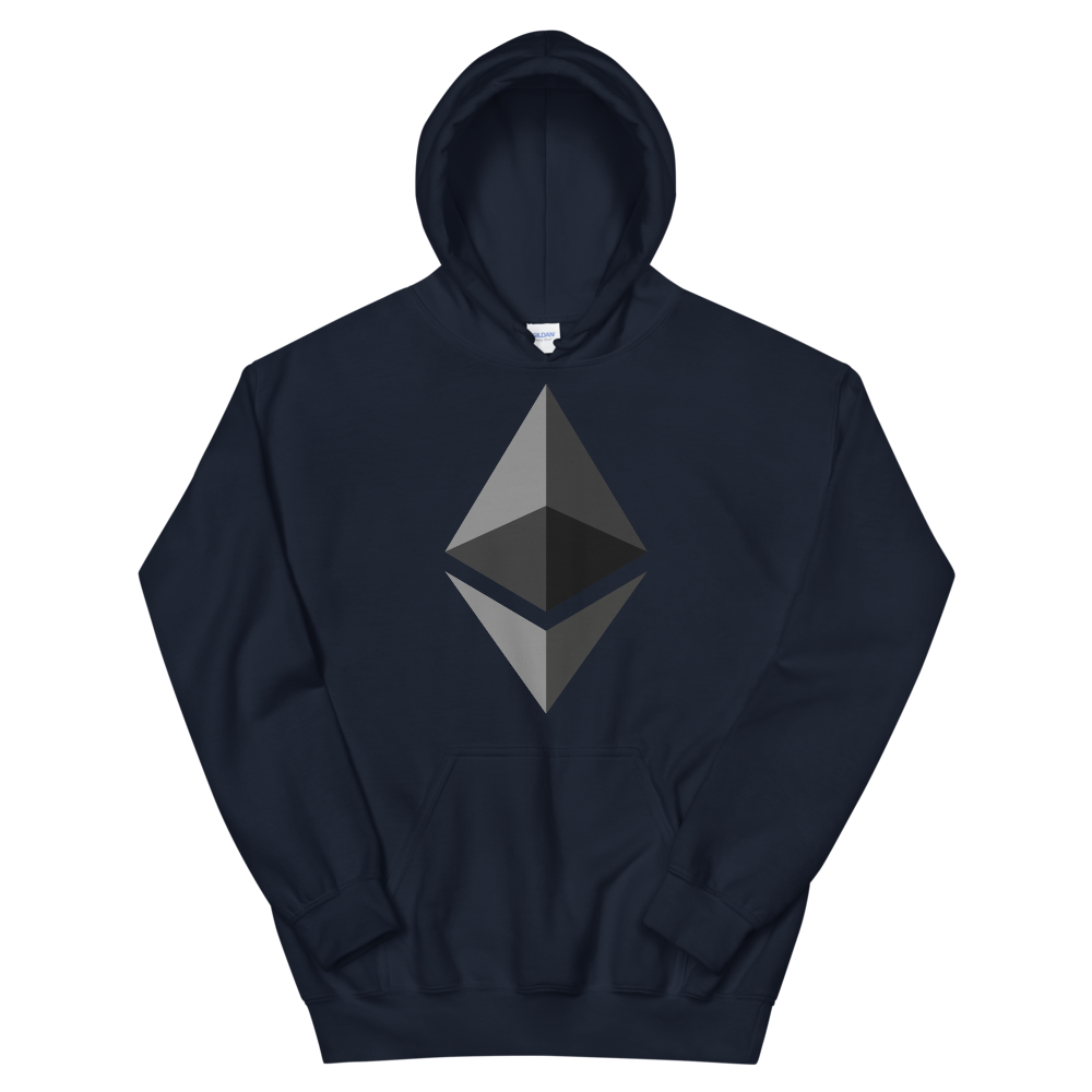 Ethereum Hooded Sweatshirt Navy S - zeroconfs