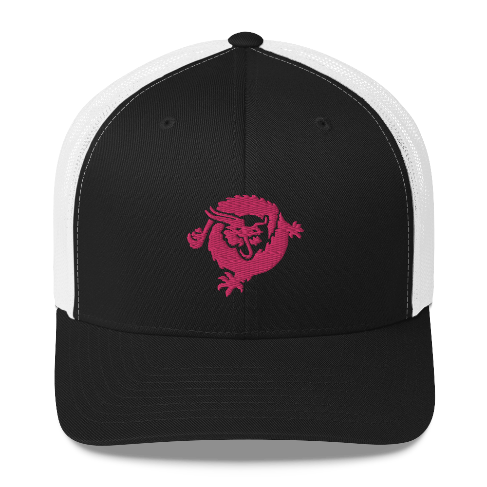 Bitcoin SV Dragon Trucker Cap Pink Black/ White  - zeroconfs
