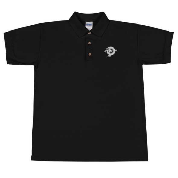 Bitcoin SV Dragon Embroidered Polo Shirt White Black S - zeroconfs