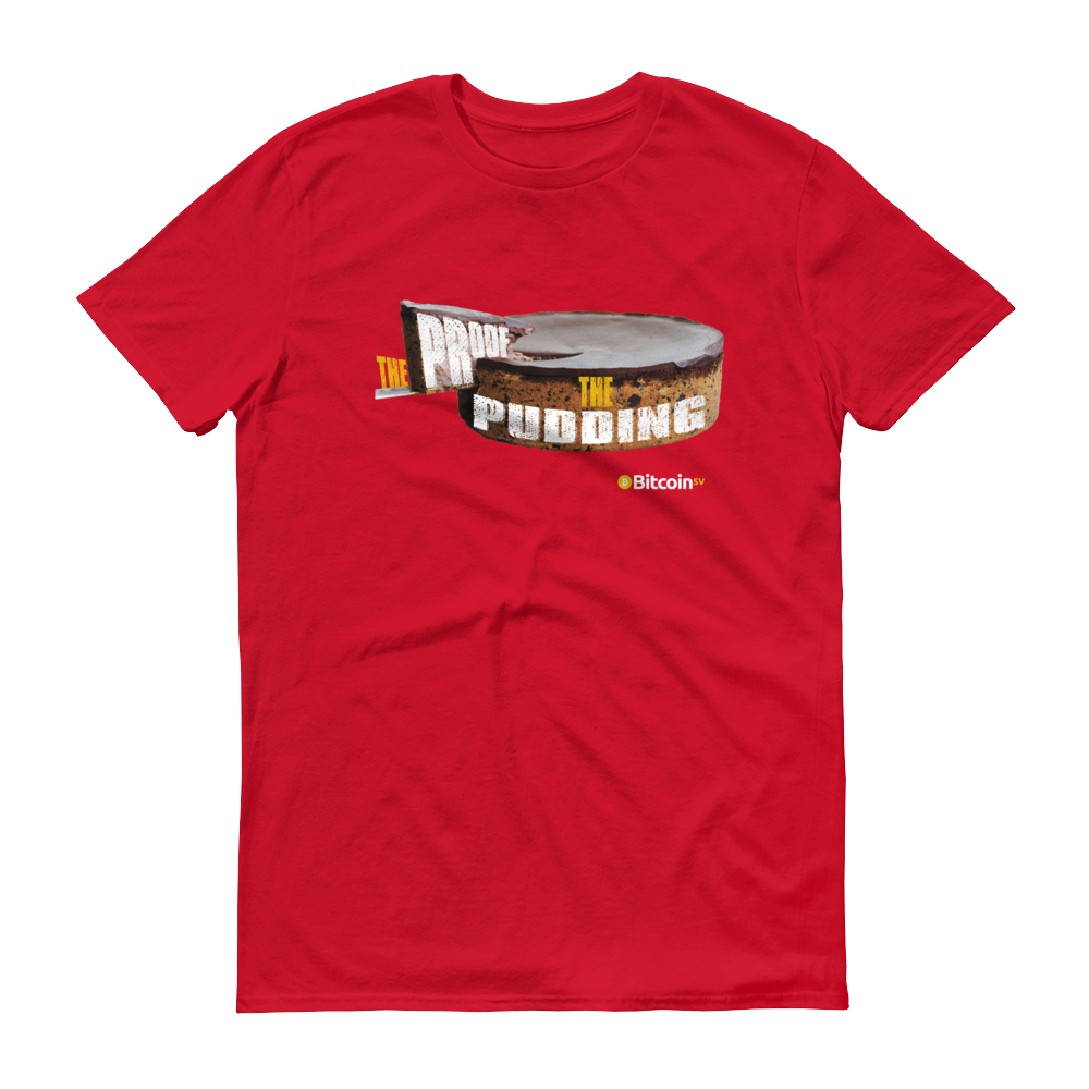 Proof Of Pudding Bitcoin SV Short-Sleeve T-Shirt Red S - zeroconfs