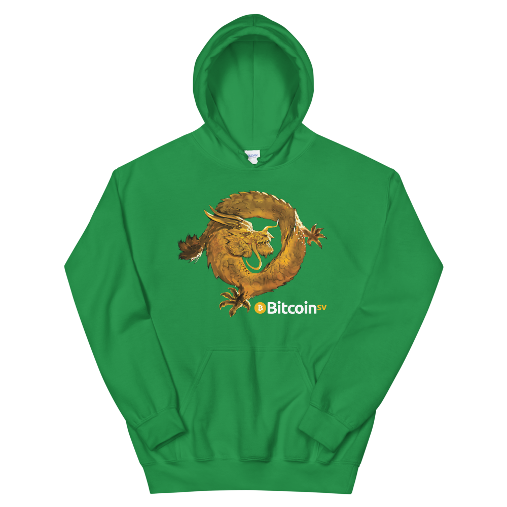 Bitcoin SV Woken Dragon Women's Hooded Sweatshirt Irish Green S - zeroconfs