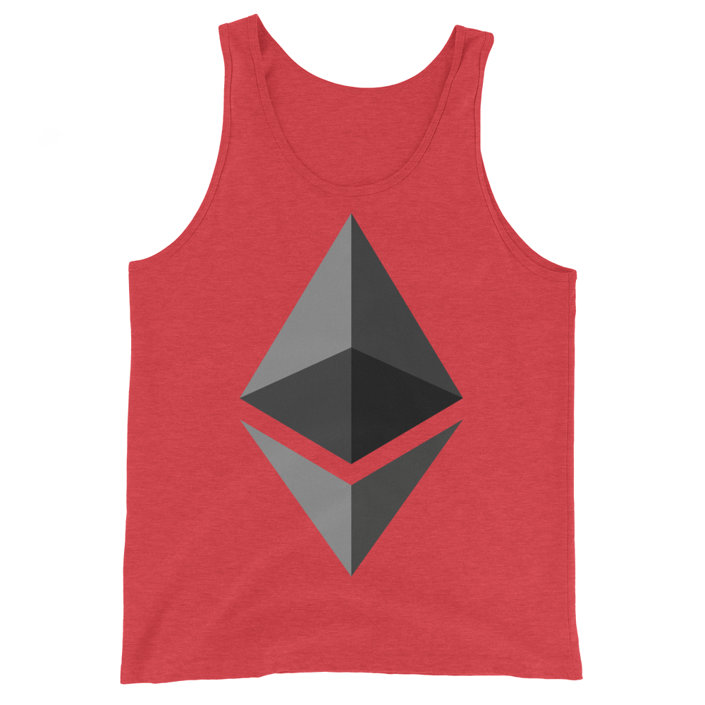 Ethereum Tank Top Red Triblend XS - zeroconfs