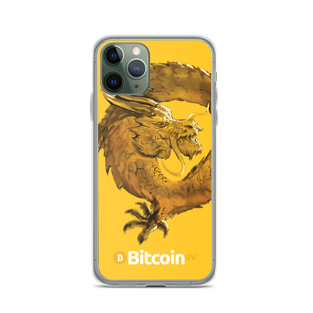 Bitcoin SV Woken Dragon iPhone Case Yellow iPhone 11 Pro  - zeroconfs
