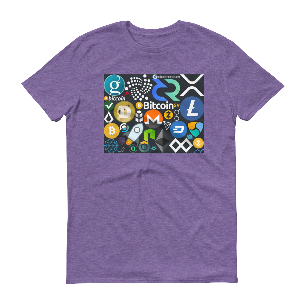 Crypto Calling Short-Sleeve T-Shirt Heather Purple S - zeroconfs