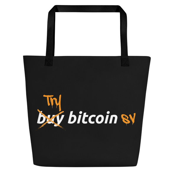 Try Bitcoin SV Beach Bag Black  - zeroconfs