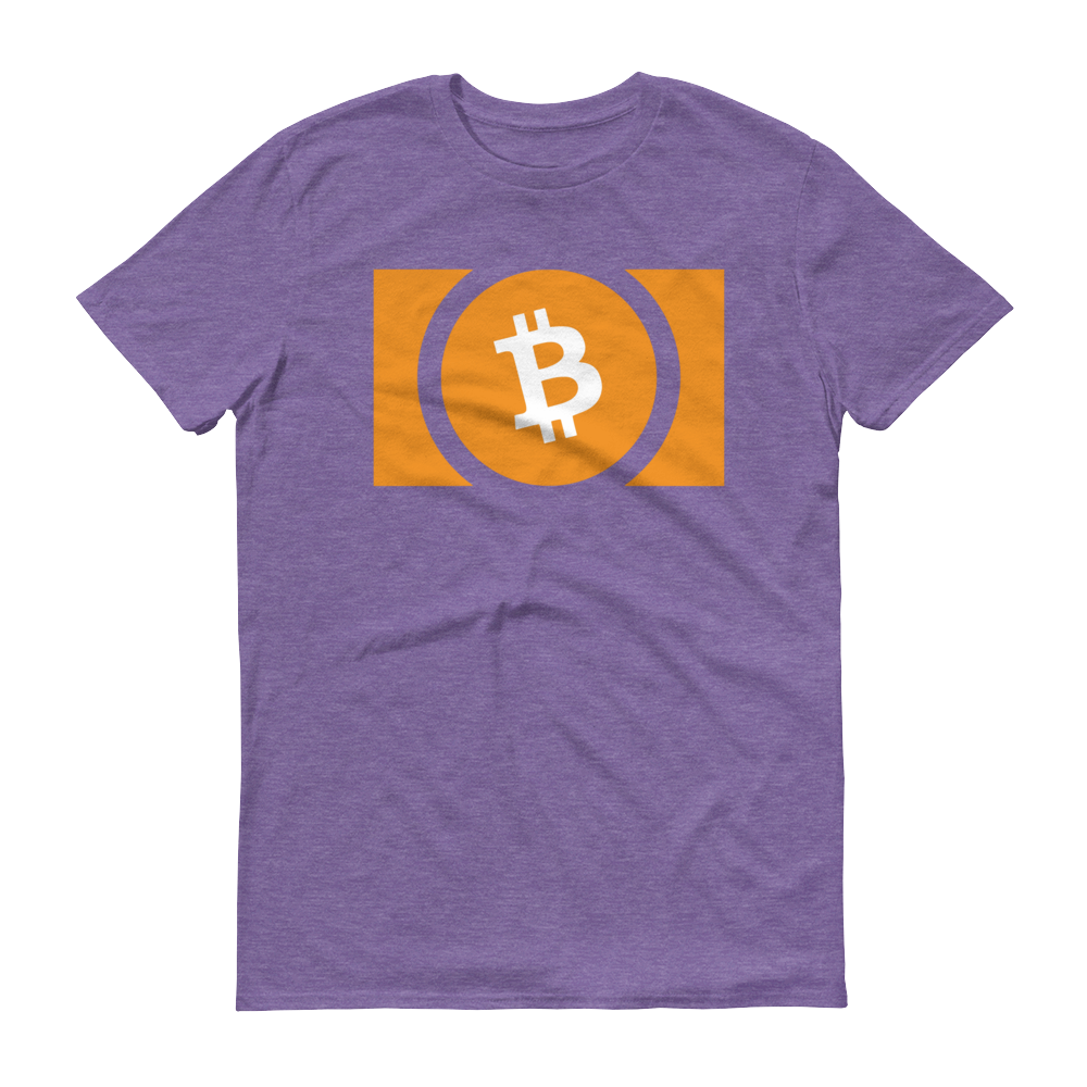 Bitcoin Cash Short-Sleeve T-Shirt Heather Purple S - zeroconfs