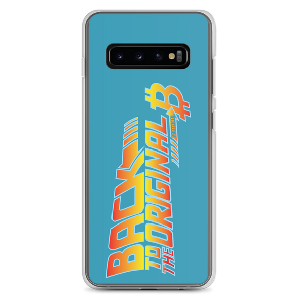 Back To The Original Bitcoin Protocol Samsung Case Blue Samsung Galaxy S10+  - zeroconfs