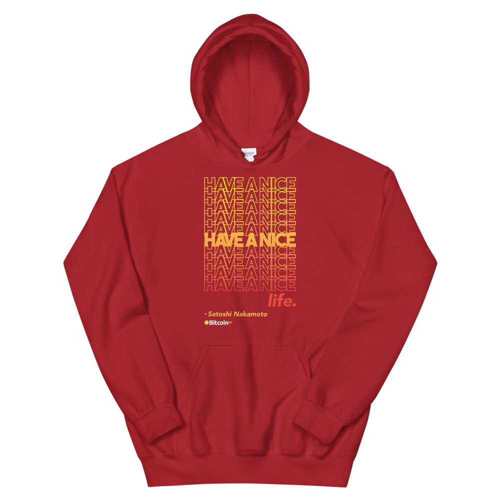 Have A Nice Life Bitcoin SV Hooded Sweatshirt Red S - zeroconfs