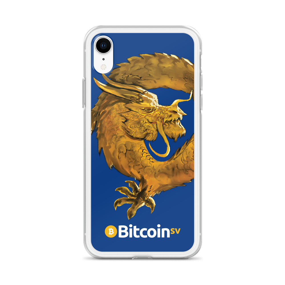 Bitcoin SV Woken Dragon iPhone Case Navy   - zeroconfs