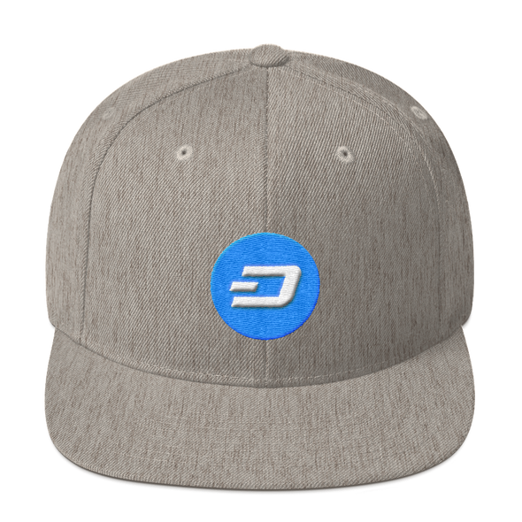 Dash Snapback Hat Heather Grey  - zeroconfs