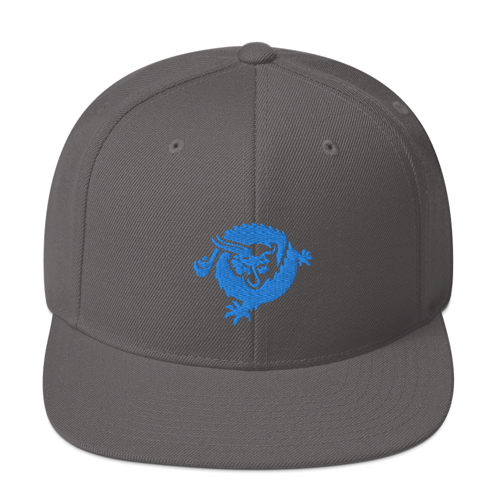 Bitcoin SV Dragon Snapback Hat Blue Dark Grey  - zeroconfs
