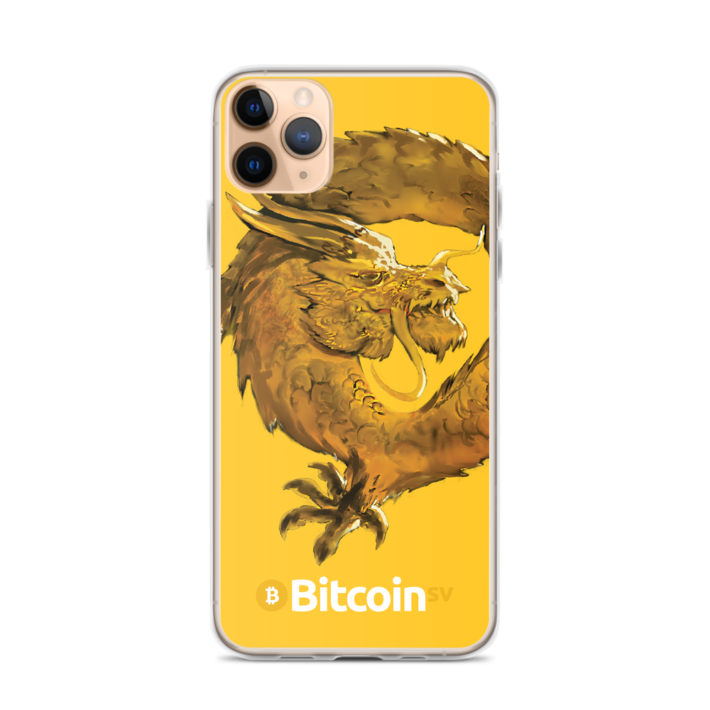 Bitcoin SV Woken Dragon iPhone Case Yellow iPhone 11 Pro Max  - zeroconfs