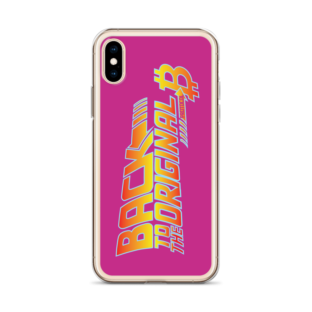 Back To The Original Bitcoin Protocol iPhone Case Pink   - zeroconfs