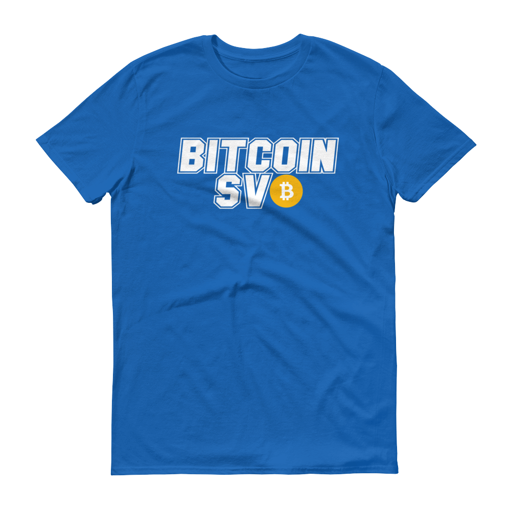 Bitcoin SV Sports Short-Sleeve T-Shirt Royal Blue S - zeroconfs