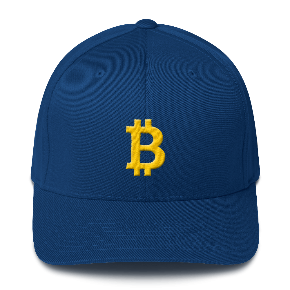 Bitcoin B Flexfit Cap Royal Blue S/M - zeroconfs