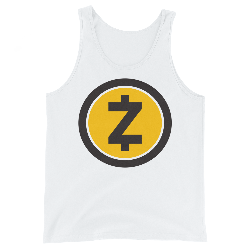 Zcash Tank Top White XS - zeroconfs