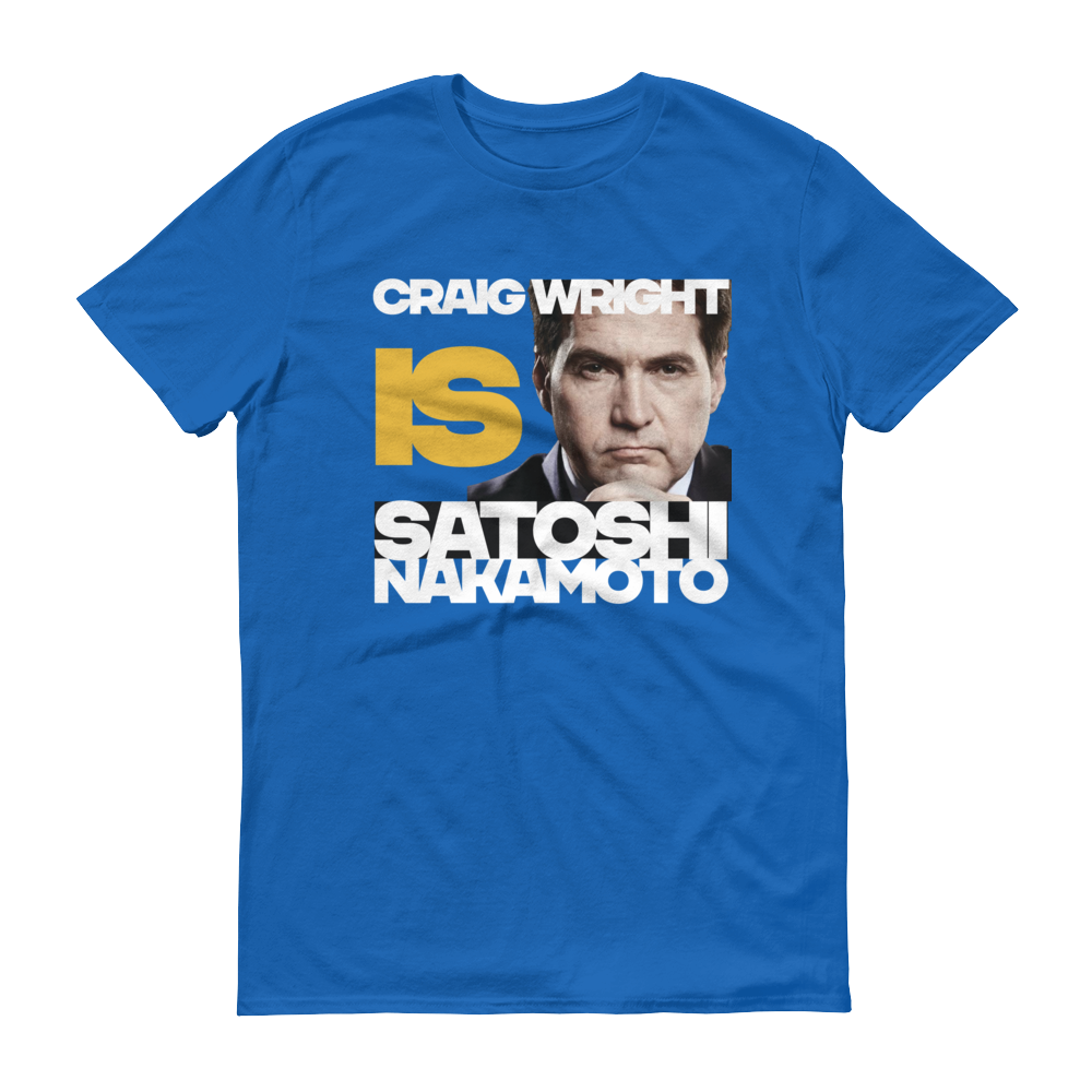 Craig Is Satoshi Have A Nice Day Short-Sleeve T-Shirt Royal Blue S - zeroconfs