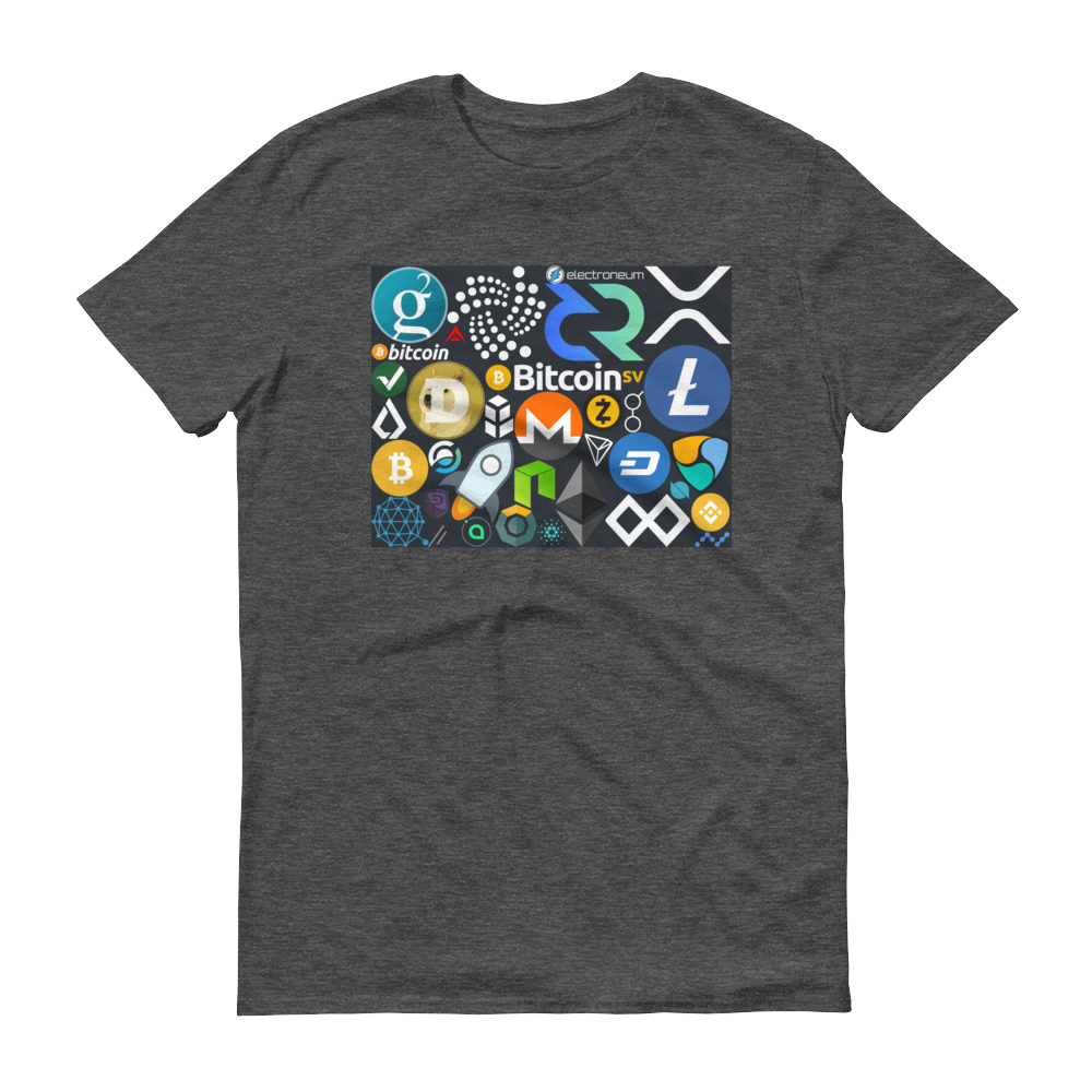 Crypto Calling Short-Sleeve T-Shirt Heather Dark Grey S - zeroconfs