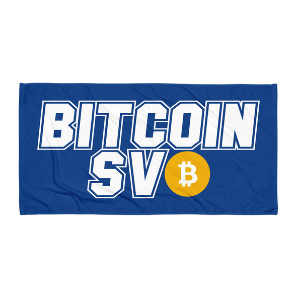 Bitcoin SV Sports Beach Towel Navy Default Title  - zeroconfs