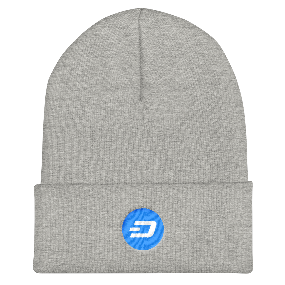 Dash Cuffed Beanie Heather Grey  - zeroconfs