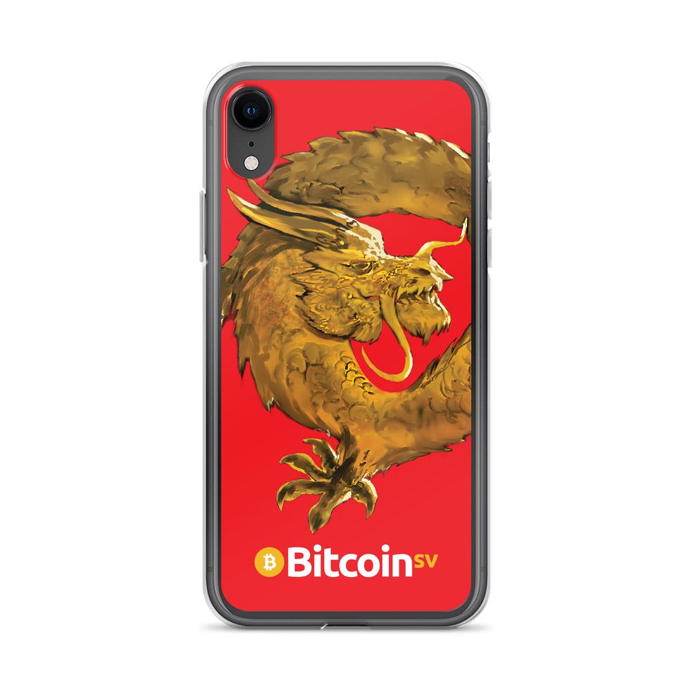 Bitcoin SV Woken Dragon iPhone Case Red iPhone XR  - zeroconfs