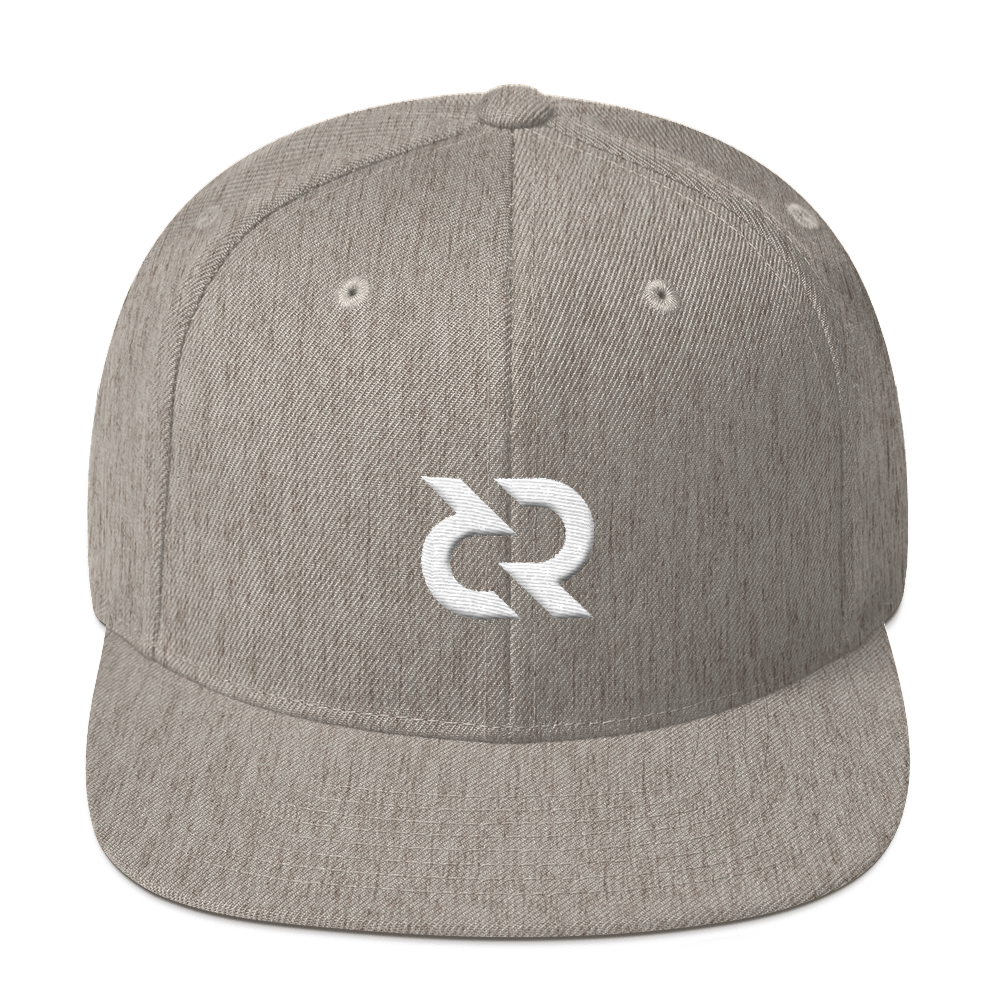Decred Snapback Hat Heather Grey  - zeroconfs