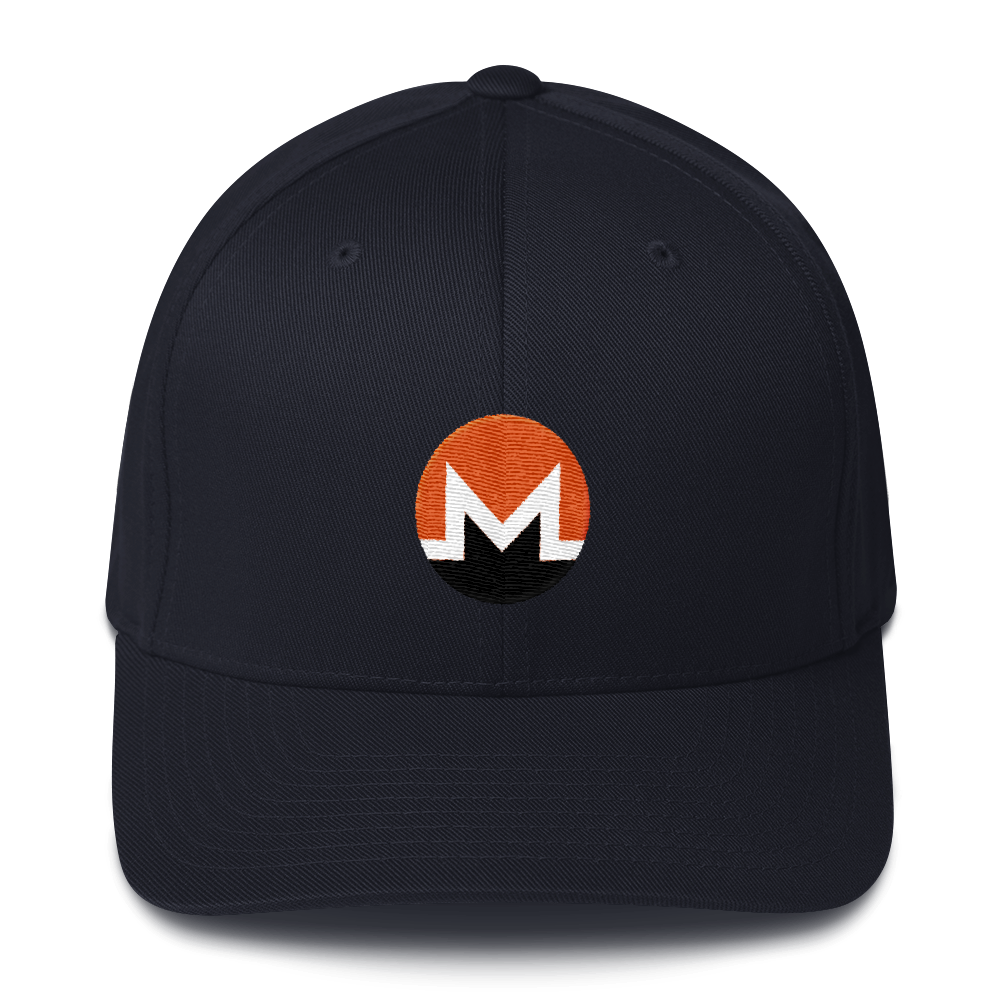 Monero Flexfit Cap Dark Navy S/M - zeroconfs