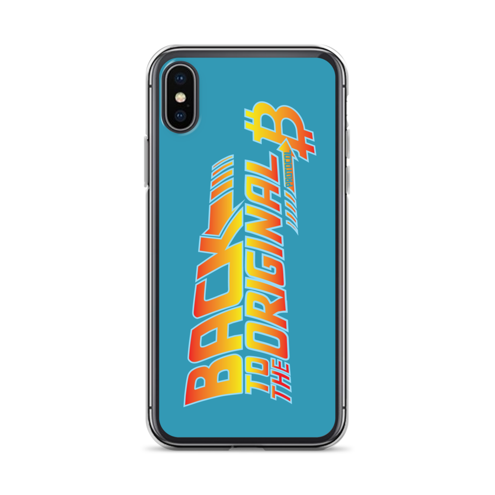 Back To The Original Bitcoin Protocol iPhone Case Blue iPhone X/XS  - zeroconfs