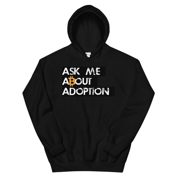 Ask Me About Adoption Bitcoin Women's Hooded Sweatshirt Black S - zeroconfs