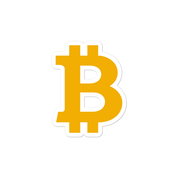 Bitcoin B Bubble-Free Vinyl Stickers 3x3  - zeroconfs