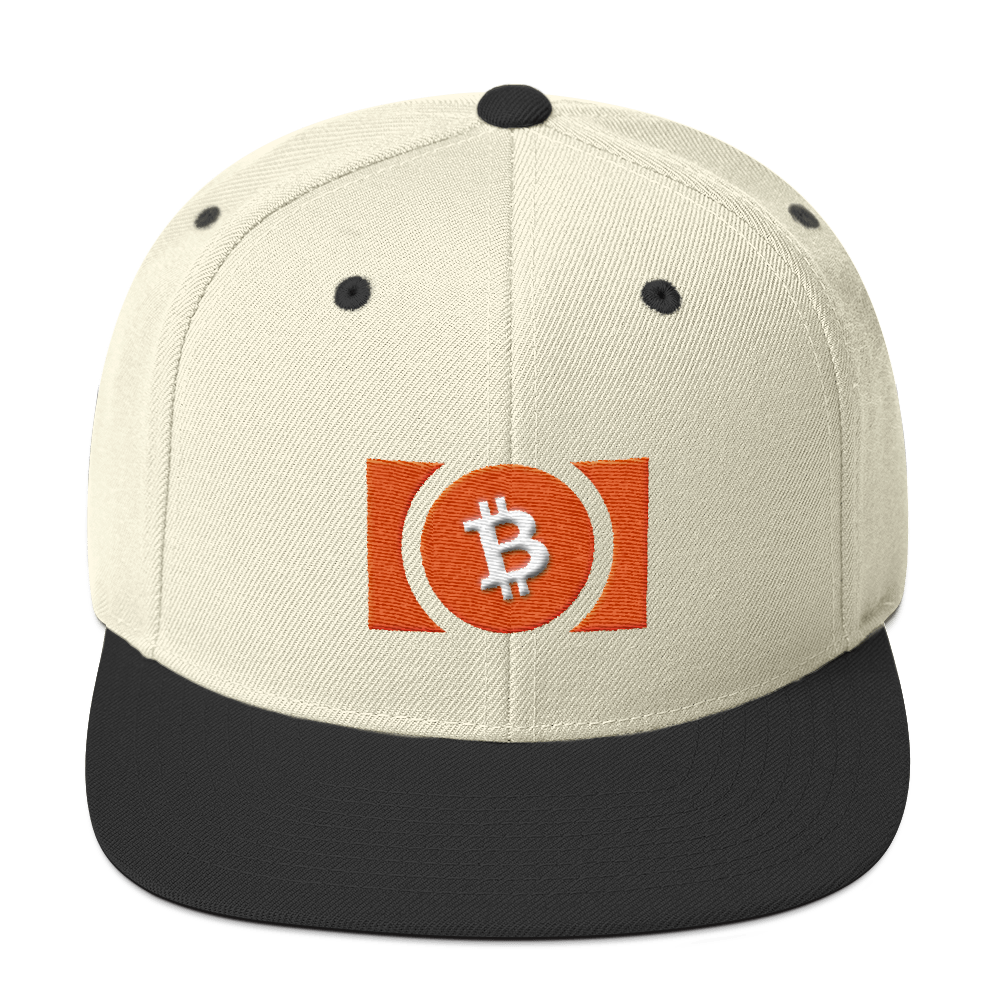 Bitcoin Cash Snapback Hat Natural/ Black  - zeroconfs