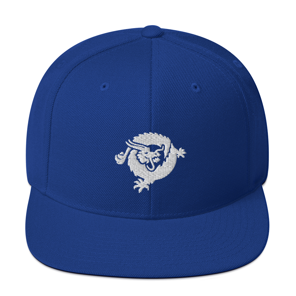 Bitcoin SV Dragon Snapback Hat White Royal Blue  - zeroconfs