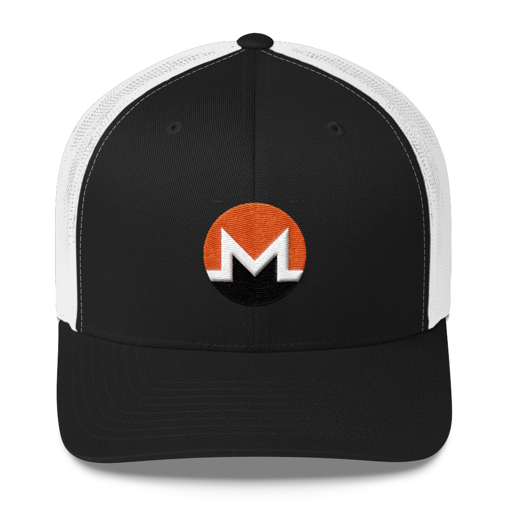 Monero Trucker Cap Black/ White  - zeroconfs