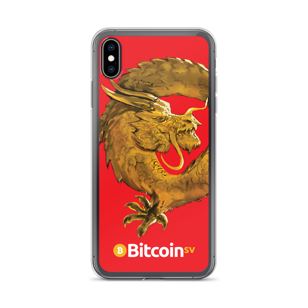 Bitcoin SV Woken Dragon iPhone Case Red iPhone XS Max  - zeroconfs