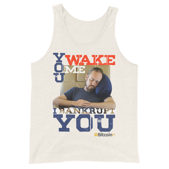 Don't Wake Shadders! Bitcoin SV Tank Top Oatmeal Triblend XS - zeroconfs