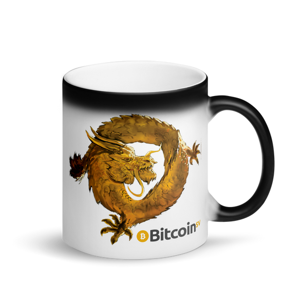 Bitcoin SV Woken Dragon Magic Mug Default Title  - zeroconfs