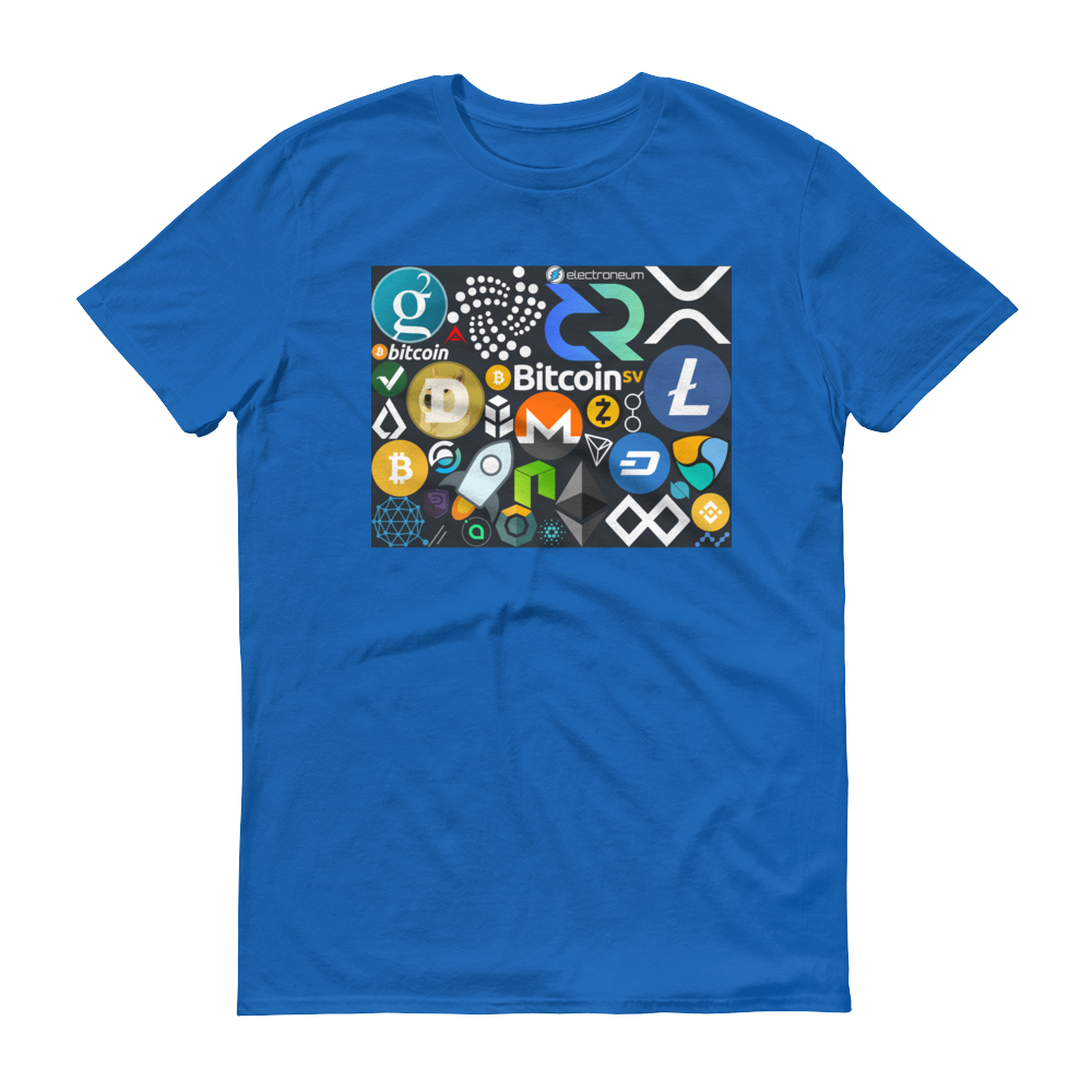 Crypto Calling Short-Sleeve T-Shirt Royal Blue S - zeroconfs