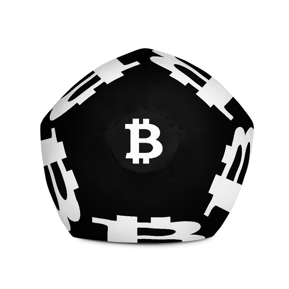 Bitcoin SV Black Bean Bag Cover Only   - zeroconfs
