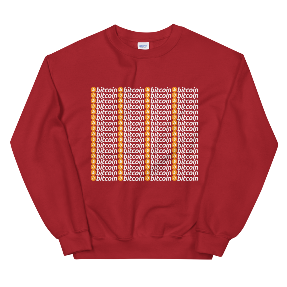 Bitcoins Women's Sweatshirt Red S - zeroconfs