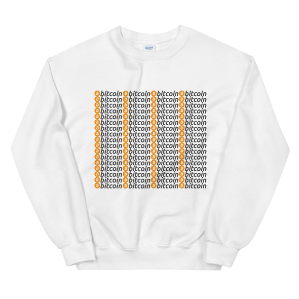 Bitcoins Sweatshirt White S - zeroconfs