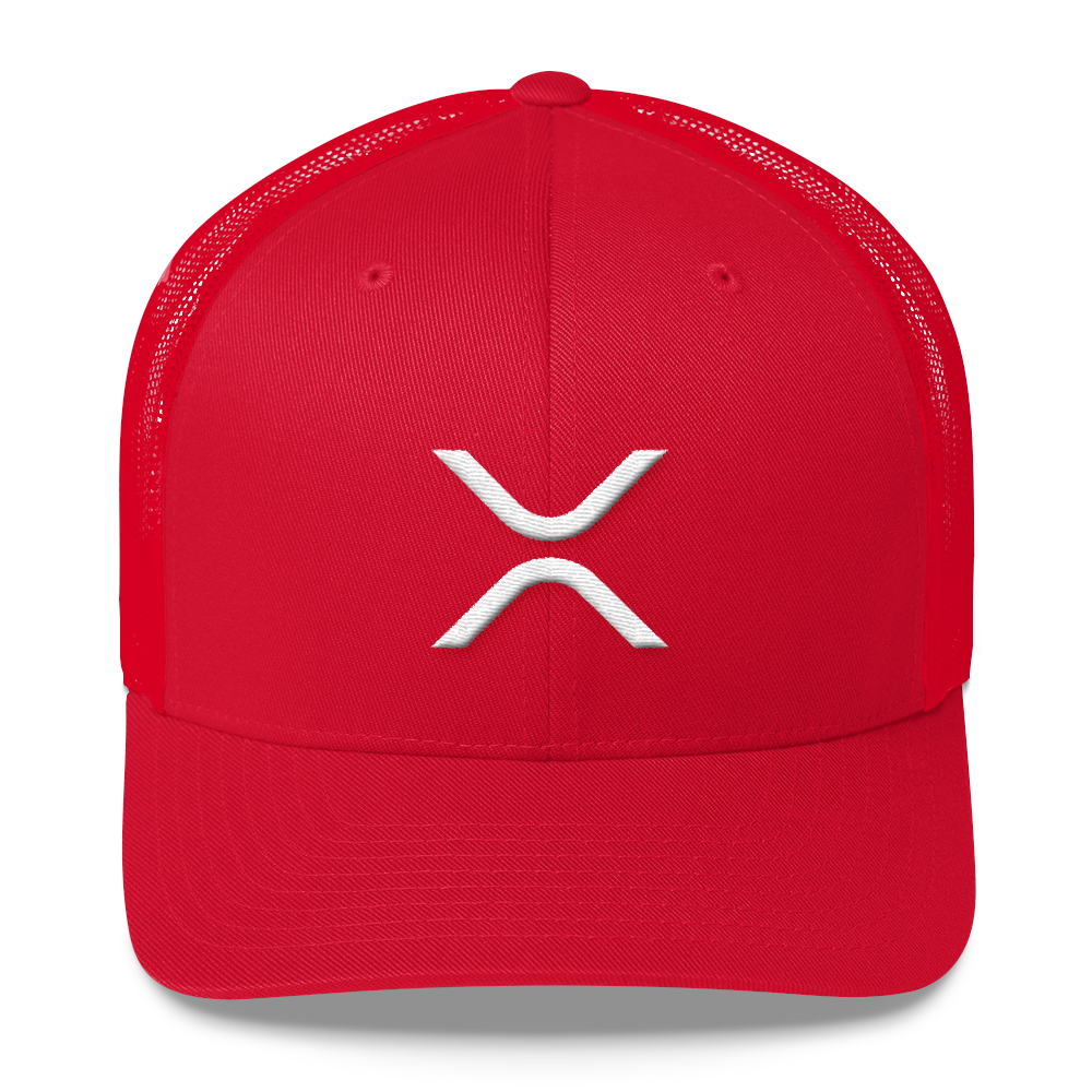 Ripple Trucker Cap Red  - zeroconfs