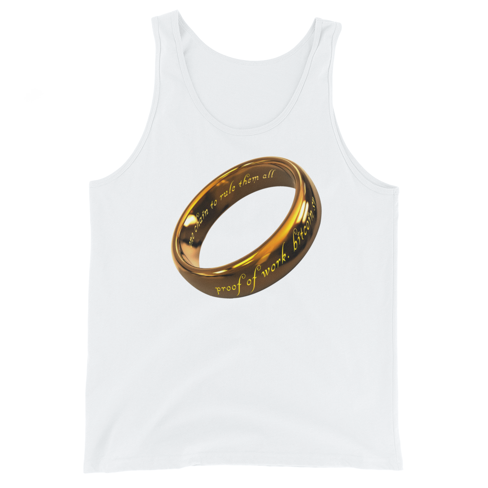 One Chain To Rule Them All Bitcoin SV Tank Top White XS - zeroconfs