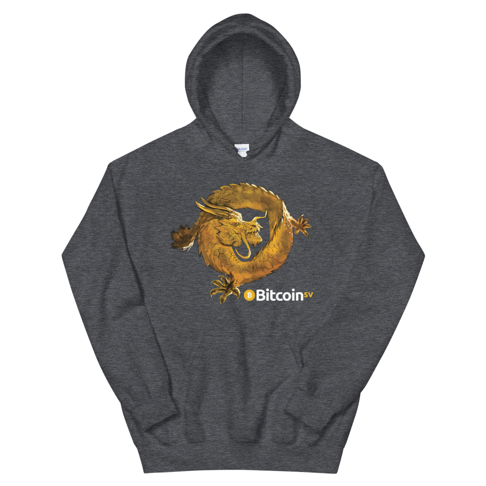 Bitcoin SV Woken Dragon Women's Hooded Sweatshirt Dark Heather S - zeroconfs