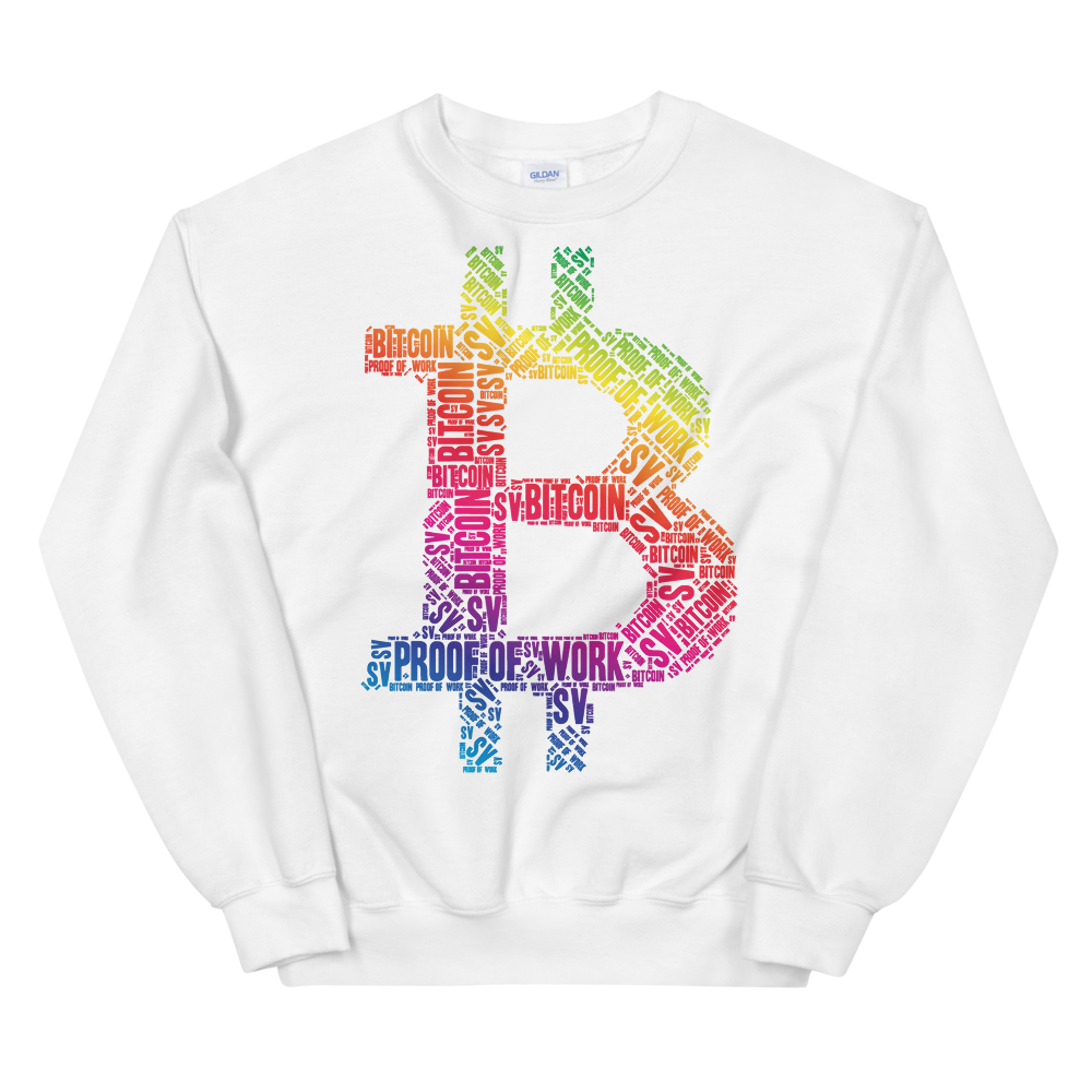 Bitcoin SV Proof Of Work Sweatshirt White S - zeroconfs