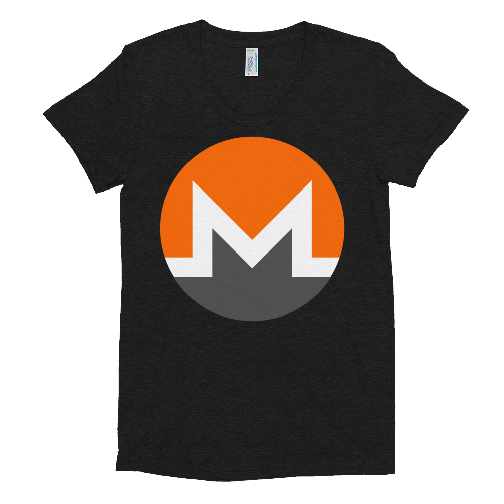 Monero Women's Crew Neck T-Shirt Tri-Black S - zeroconfs
