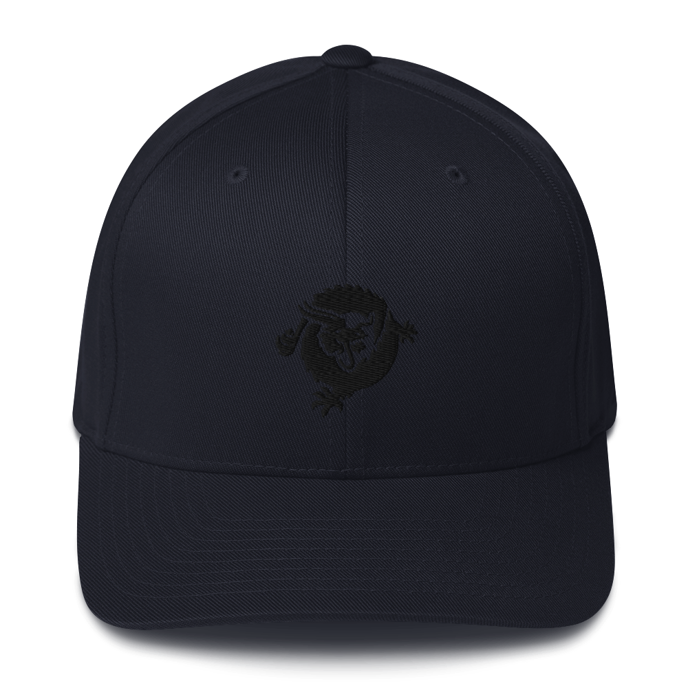 Bitcoin SV Dragon Flexfit Cap Black Dark Navy S/M - zeroconfs