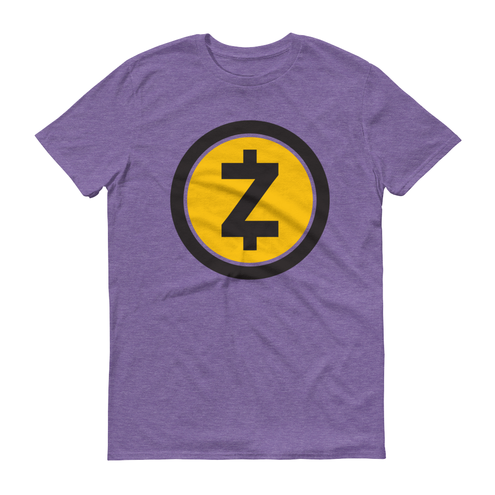 Zcash Short-Sleeve T-Shirt Heather Purple S - zeroconfs