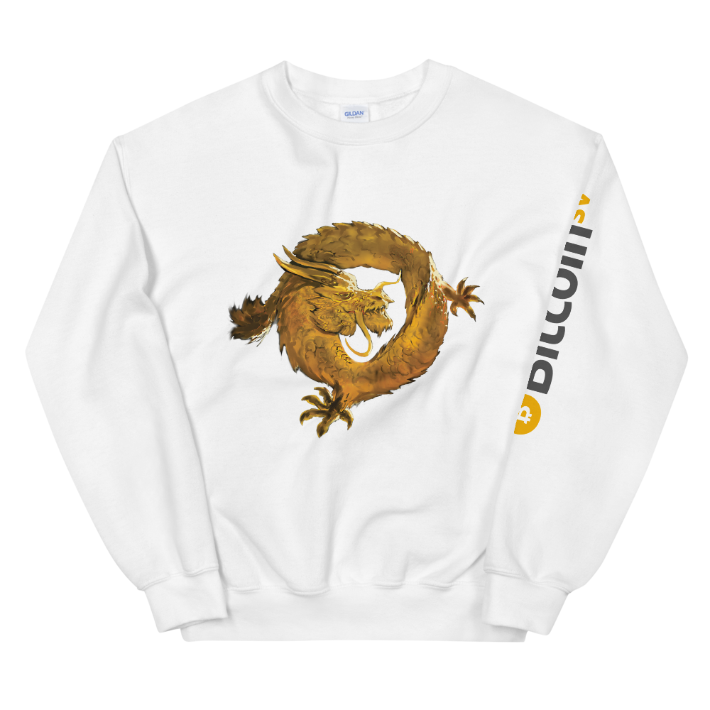 Bitcoin SV Woken Dragon Women's Sweatshirt Sleeve White S - zeroconfs